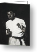 Originals Pastels Greeting Cards - Cassius Clay Greeting Card by L Cooper