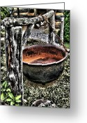 Tenn Greeting Cards - Cast Iron Pot 1 Greeting Card by Dennis Sullivan