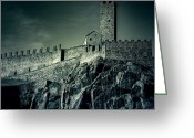 Heritage Greeting Cards - Castelgrande Bellinzona Greeting Card by Joana Kruse