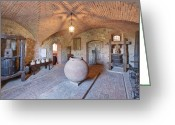 Brunello Greeting Cards - Castello Banfi Museum Greeting Card by Rob Tilley