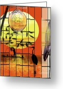 Heron.birds Greeting Cards - Castigated Reflection-No Longer In The Light Greeting Card by Reggie Duffie