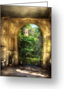 Storybook Greeting Cards - Castle - Just Beyond Greeting Card by Mike Savad
