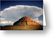 Canada Digital Art Greeting Cards - Castle Butte in Big Muddy Valley of Saskatchewan Greeting Card by Mark Duffy
