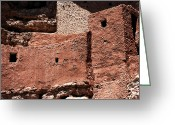 Native American Indians Greeting Cards - Castle in the Rocks Greeting Card by John Rizzuto