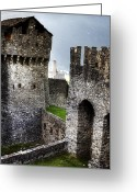Battlement Greeting Cards - Castle Greeting Card by Joana Kruse