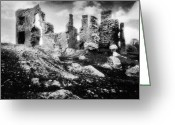 Silver Gelatin Greeting Cards - Castle Lyons Greeting Card by Simon Marsden