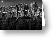 Mountain Range Greeting Cards - Castle Mountain Panoramic Greeting Card by Brent Mooers