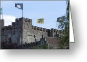 Gent Greeting Cards - Castle Of The Counts Gent Belgium Greeting Card by Marilyn Dunlap