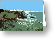 Sea Shell Art Greeting Cards - Castle On A Cliff Edge Greeting Card by Patrick J Murphy