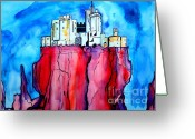 Foundations Greeting Cards - Castles in the Air Greeting Card by Paul Chenoweth