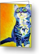 Kitty Greeting Cards - Cat - Here Kitty Kitty Greeting Card by Alicia VanNoy Call