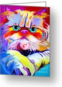 Kitty Greeting Cards - Cat - Tigger Greeting Card by Alicia VanNoy Call