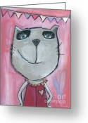 Tom Boy Greeting Cards - Cat Rose Greeting Card by Sonja Mengkowski