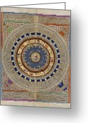 Cosmogony Greeting Cards - Catalan Atlas, 14th Century Greeting Card by Library Of Congress