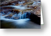 Gorge Greeting Cards - Cataract Falls Greeting Card by Chad Dutson