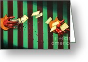 Trick Painting Greeting Cards - Catch Greeting Card by Fabrini Crisci