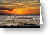 Dj Florek Greeting Cards - Catch of the Day Greeting Card by DJ Florek