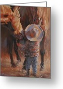Cowboy Hats Greeting Cards - Catch of the Day Greeting Card by Mia DeLode
