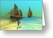 Sailboat Picture Greeting Cards - Catch The Wind Greeting Card by Corey Ford