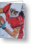 National League Painting Greeting Cards - Catchin Fitz Greeting Card by Steve Teets