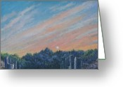 Giclee Pastels Greeting Cards - Catching the SunSet Greeting Card by Penny Neimiller