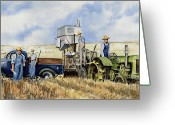 John Deere Greeting Cards - Catesby Cuttin 1938 Greeting Card by Sam Sidders