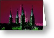 Bamberg Greeting Cards - Cathedral  Bamberg Greeting Card by Rosi Lorz