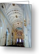 San Juan Bautista Greeting Cards - Cathedral de San Juan Bautista Greeting Card by Gary Little