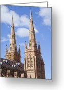 Classical Style Greeting Cards - Cathedral, Gothic Style, Catholicism, Sydney, Australia - Australasia Greeting Card by IMAGEMORE Co, Ltd.