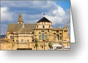 Historical Site Greeting Cards - Cathedral in Cordoba Greeting Card by Artur Bogacki