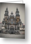 Sacred Photo Greeting Cards - Cathedral of Santiago de Compostela Greeting Card by Jasna Buncic