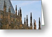Faith Greeting Cards - Cathedral of SS Vitus - Prague Castle Hradcany - Prague Greeting Card by Christine Till