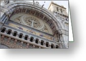 Byzantine Greeting Cards - Cathedral of St Vincent de Paul I Greeting Card by Irene Abdou
