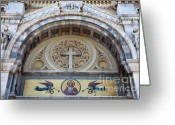 Byzantine Greeting Cards - Cathedral of St Vincent de Paul III Greeting Card by Irene Abdou