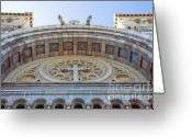 Byzantine Greeting Cards - Cathedral of St Vincent de Paul IV Greeting Card by Irene Abdou