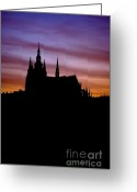 Cityspace Greeting Cards - Cathedral of St Vitus Greeting Card by Michal Boubin