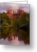 Sedona Greeting Cards - Cathedral Rock Greeting Card by Jeffrey Campbell