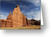 Capitol Greeting Cards - Cathedral Valley Greeting Card by David Hogan