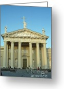 Must See Greeting Cards - Cathedral. Vilnius. Lithuania Greeting Card by Ausra Paulauskaite