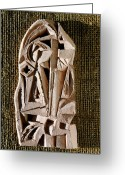 Spiritual Sculpture Greeting Cards - Cathedral Greeting Card by Vladimir Kozma