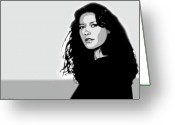 Brown Eyes Greeting Cards - Catherine Zeta Jones 2 Greeting Card by Jim Belin