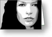 Brown Eyes Greeting Cards - Catherine Zeta Jones 3 Greeting Card by Jim Belin