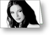 Brunette Greeting Cards - Catherine Zeta Jones 4 Greeting Card by Jim Belin