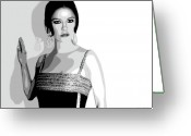Brunette Greeting Cards - Catherine Zeta Jones 6 Greeting Card by Jim Belin