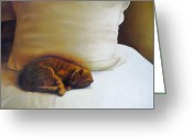 Whiskers Greeting Cards - Catnap Greeting Card by Cap Pannell