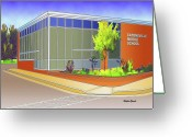 Catonsville Greeting Cards - Catonsville Middle School Greeting Card by Stephen Younts