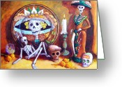 Mexican Pastels Greeting Cards - Catrina Greeting Card by Candy Mayer