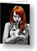Piercing Greeting Cards - Cats Greeting Card by Joachim G Pinkawa