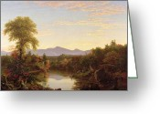 Cole Painting Greeting Cards - Catskill Creek - New York Greeting Card by Thomas Cole