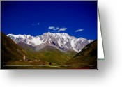 Alpine Skiing Prints Greeting Cards - Caucasus. Ushguli Greeting Card by Iurii Zaika